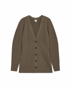 Fitted Cardigan Brown