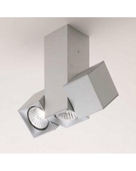 MILAN ILUMINACIÓN Dau Matt Brushed Aluminium Geometrical Lamps With 3 Cubical Cylinders -