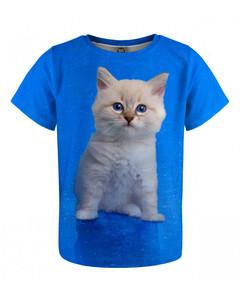 Mr. Gugu & Miss Go Blue Cat Kids T-shirt