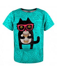 Mr. Gugu & Miss Go Coffee Cat Kids T-shirt