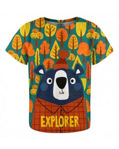 Mr. Gugu & Miss Go Bear Explorer Kids T-shirt