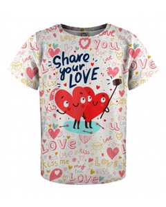 Mr. Gugu & Miss Go Love Selfie Kids T-shirt