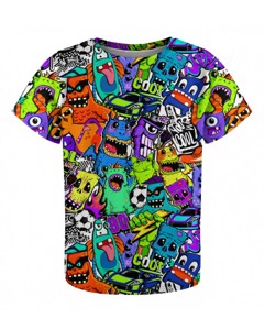 Mr. Gugu & Miss Go Colorful Monsters Kids T-shirt
