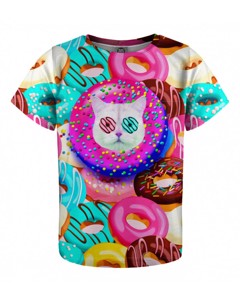 Mr. Gugu & Miss Go Donut Cat Kids T-shirt