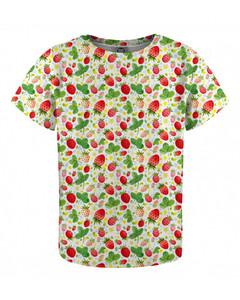 Mr. Gugu & Miss Go Strawberries Pattern Kids T-shirt