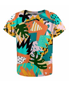 Mr. Gugu & Miss Go Tropical Abstract Kids T-shirt
