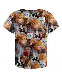 Mr. Gugu & Miss Go Kitty Stare Kids T-shirt