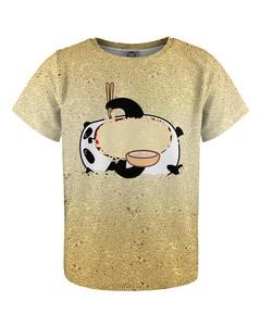 Mr. Gugu & Miss Go Hungry Panda Kids T-shirt