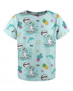 Mr. Gugu & Miss Go Surfing Unicorn Kids T-shirt