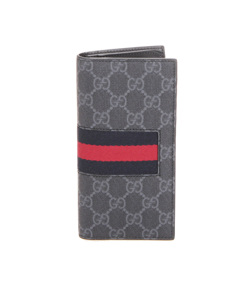 Gucci Gg Supreme Web Long Wallet Black