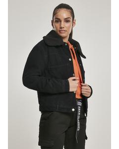 Damen Ladies Oversized Corduroy Sherpa Jacket
