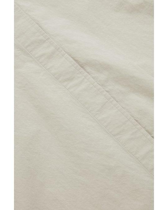 COS Collarless Shirt Mole Grey