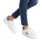 Pu Ladies Shoes White/jeans