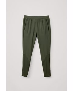 Tapered Running Trousers Dark Green