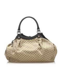 Gucci Diamante Sukey Canvas Handbag Brown