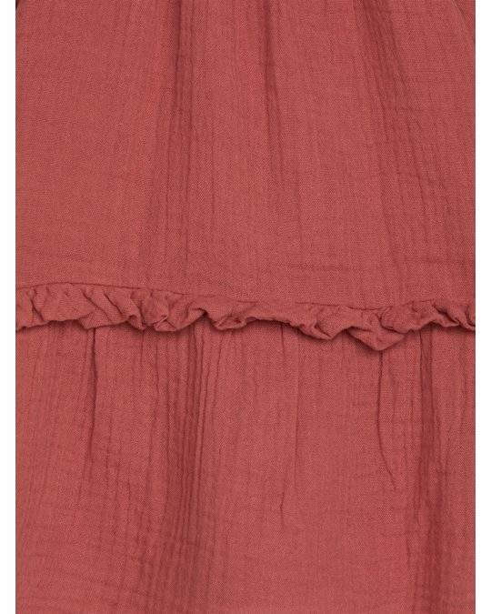 Arket Legeres Rüschenkleid Terrakotta