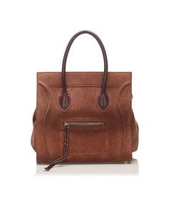 Celine Phantom Leather Handbag Brown
