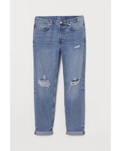 Boyfriend Low Jeans Denimblauw