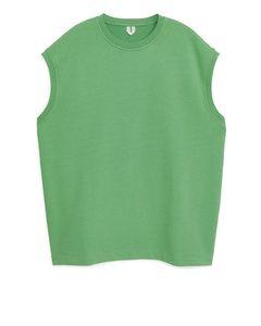 Oversized Sweatshirt Vest Bright Green
