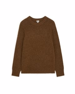 Alpaca & Merino Jumper Brown