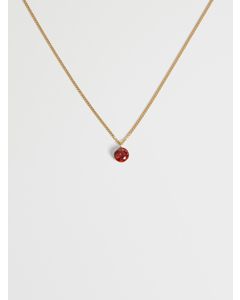 Mia Crystal Necklace- G Gold