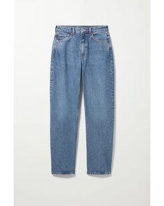 Lockere Mom-Jeans Float mit hohem Bund Mittelblau
