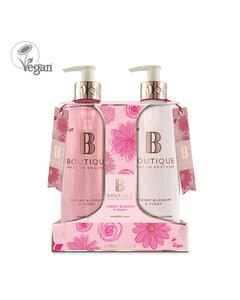 Boutique Cherry Blossom & Peony Hand Duo