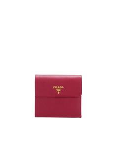 Prada Saffiano Small Wallet Red