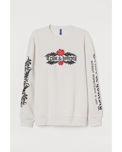 Sweatshirt Hellbeige/Trust & honesty