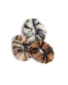 Faux Fur Scrunchies 3-pack  Multi