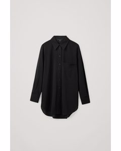 Cotton Boyfriend Shirt Black