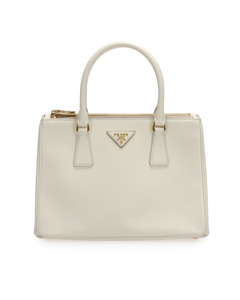 Prada Saffiano Galleria Tote Bag White
