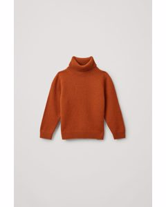 Cashmere Roll-neck Jumper Orange