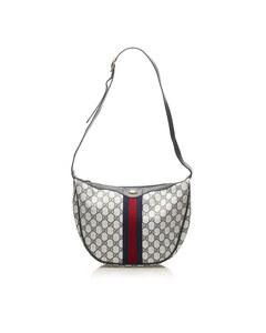 Gucci Gg Canvas Web Crossbody Bag Gray