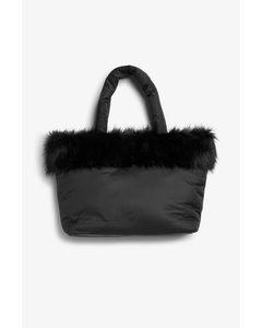 Wattierte Tasche Schwarz