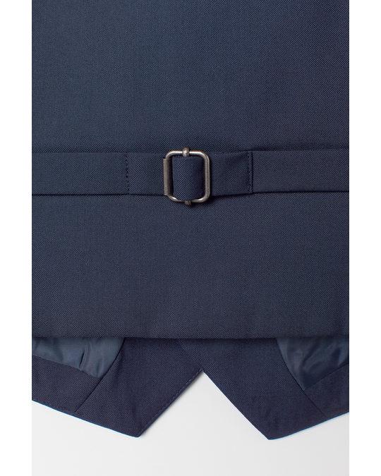 H&M Suit Waistcoat Navy Blue