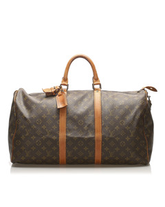 Louis Vuitton Monogram Keepall 50 Brown