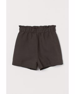 Weite Shorts Dunkles Taupe