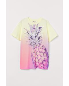 Oversized T-Shirt Hellgelb/Summer Air