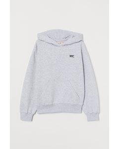 Capuchonsweater Lichtgrijs Gemêleerd/nyc