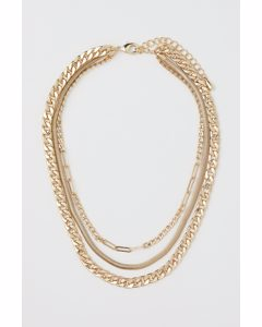 Treradigt Halsband Guld