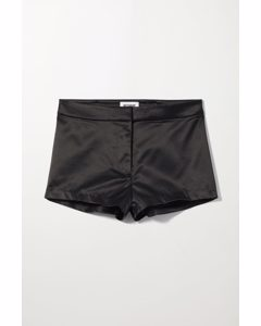 Ava Satin Hot Pants Black