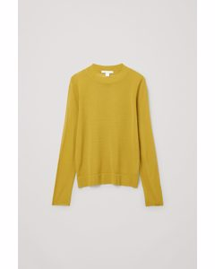Knitted Long Sleeve Top Yellow