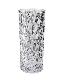 Elegant Vas Rund Kristallglas Höjd 24,5 Cm