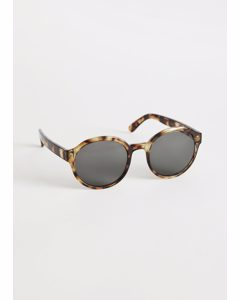 Round Frame Sunglasses Tortoise