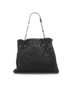 Bvlgari Leather Shoulder Bag Black