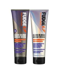 Fudge Clean Blonde Damage Rewind Duo Shampoo 250ml + Conditioner 250ml