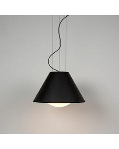 Moderne Plafond Hanglamp Met Zwart Gelakte Afwerking