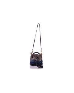 Kleine Wildleder Gala Bucket Bag