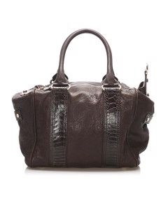 Balenciaga Leather Tote Bag Brown